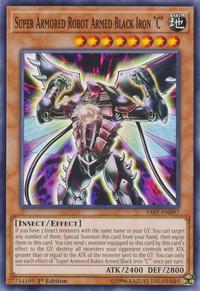 "YuGiOh! TCG karta: Super Armored Robot Armed Black Iron ""C"""