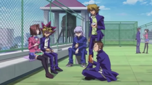 Yugi and friends discuss their futures