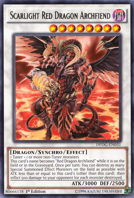 YGO DPDG-FR031 Lumicatrice Dragon Rouge Archdémon Scarlight Red Dragon Archfi