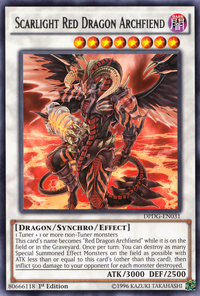 YuGiOh! TCG karta: Scarlight Red Dragon Archfiend