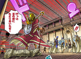 Priests, Atem and Bakura's palace ka battle (manga)