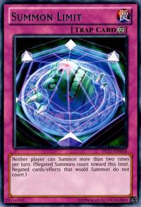 YuGiOh! TCG karta: Summon Limit