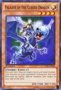 YuGiOh! TCG karta: Paladin of the Cursed Dragon