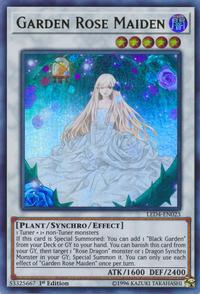 YuGiOh! TCG karta: Garden Rose Maiden