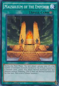 YuGiOh! TCG karta: Mausoleum of the Emperor