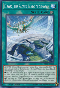YuGiOh! TCG karta: Elborz, the Sacred Lands of Simorgh