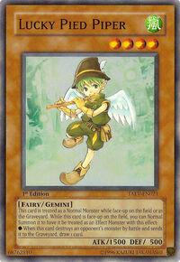YuGiOh! TCG karta: Lucky Pied Piper