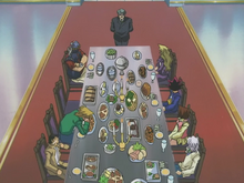 Duelist Kingdom dinner party scene