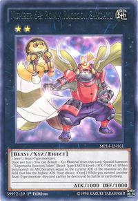 YuGiOh! TCG karta: Number 64: Ronin Raccoon Sandayu