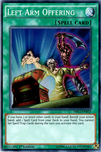 YuGiOh! TCG karta: Left Arm Offering