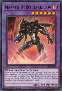 YuGiOh! TCG karta: Masked HERO Dark Law