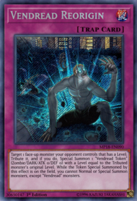 YuGiOh! TCG karta: Vendread Reorigin