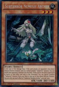 YuGiOh! TCG karta: Subterror Nemesis Archer