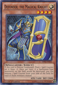 YuGiOh! TCG karta: Defender, the Magical Knight