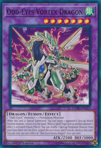 YuGiOh! TCG karta: Odd-Eyes Vortex Dragon
