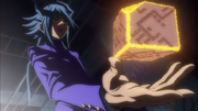 Aigami materializes the cube
