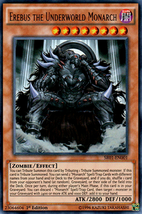 YuGiOh! TCG karta: Erebus the Underworld Monarch