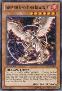 YuGiOh! TCG karta: Horus the Black Flame Dragon LV6