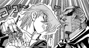 Jonouchi staring Rishid down