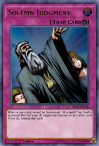 YuGiOh! TCG karta: Solemn Judgment