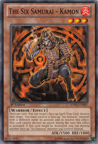 YuGiOh! TCG karta: The Six Samurai - Kamon