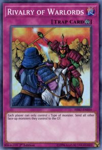 YuGiOh! TCG karta: Rivalry of Warlords