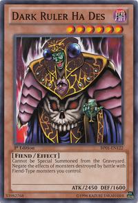 YuGiOh! TCG karta: Dark Ruler Ha Des