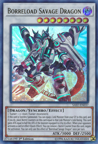 YuGiOh! TCG karta: Borreload Savage Dragon