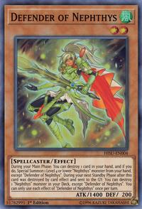 YuGiOh! TCG karta: Defender of Nephthys
