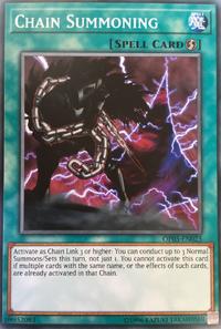 YuGiOh! TCG karta: Chain Summoning