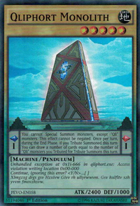 YuGiOh! TCG karta: Qliphort Monolith