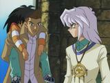 Tristan and Bakura save Mokuba