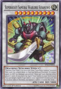 YuGiOh! TCG karta: Superheavy Samurai Warlord Susanowo