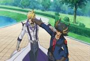 5Dx043 Yusei and Jack tussle