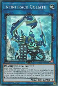 YuGiOh! TCG karta: Infinitrack Goliath