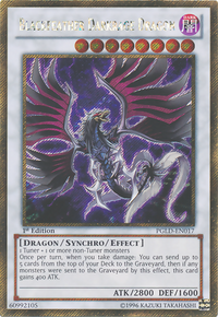 YuGiOh! TCG karta: Blackfeather Darkrage Dragon