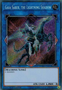 YuGiOh! TCG karta: Gaia Saber, the Lightning Shadow