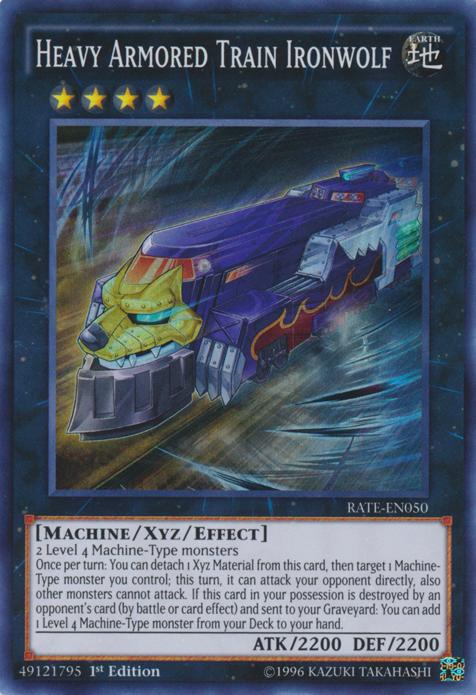 Yugioh RATE-DE050 Unlimitiert Schwer gepanzerter Zug Eisenwolf
