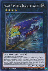 YuGiOh! TCG karta: Heavy Armored Train Ironwolf