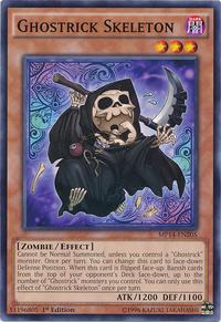 YuGiOh! TCG karta: Ghostrick Skeleton