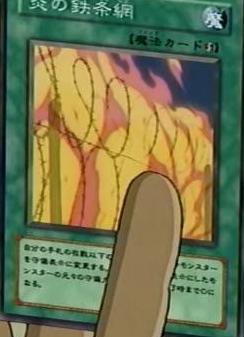Flammbierter Stacheldraht