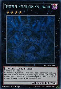 Finsterer Rebellions-Xyz-Drache - Ghost Rare
