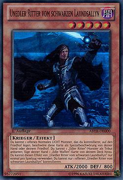 Unedler Ritter vom schwarzen Laundsallyn - ABYR-DE000