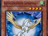 Kristallungeheuer Saphirpegasus