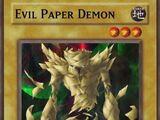 Evil Paper Demon