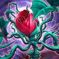 Foto tentáculos de rosa