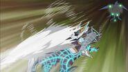 Sable Gaia, la Sombra del Trueno - Ataque