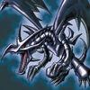 Foto dragón negro de ojos rojos