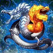 Foto dragón de hielo y fuego