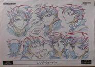 Cara de Shinji arte conceptual